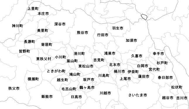 ご不用品・家電回収 出張エリア / 埼玉県の北部へ伺います。